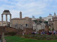 Blick auf den Kapitolshüger vom Forum Romanum aus