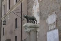 Kopie der Kapitolischen Wölfin mit den Säuglingen Romulus + Remus auf dem Kapitolshügel