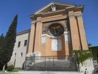 Seitenansicht der Kirche SS. Salvatore della Scala Santa mit dem Leonischen Triclinium