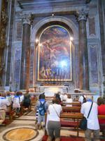 Rom (Peterskirche - Grab von Papst Johannes Paul II. unter dem Altar der S. Sebastian-Kapelle im Petersdom)