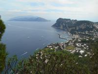 Blick von Anacapri auf Marina Grande und die Sorrentinische Halbinsel