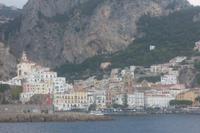 Blick auf Amalfi vom Boot aus