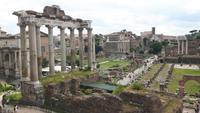 Rom (Blick vom Kapitol auf das Forum Romanum)