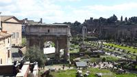 Rom (Kapitolshügel - Blick auf das Forum Romanum)