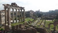 Rom (Blick vom Kapitol-Hügel auf das Forum Romanum)