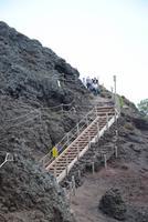 Vesuv - letzter Anstieg am Kraterrand