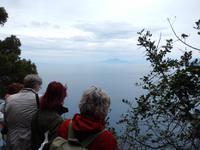 Ausblick über den Golf mit Vesuv