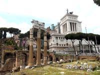 Teil des Forum Romanum und des Nationaldenkmals