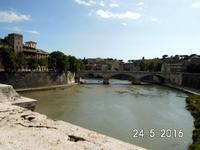 Viele Brücken führen über den Tiber -