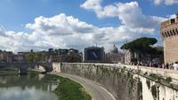 Rom (Blick von der Engelsbrücke in Richtung Vatikan)
