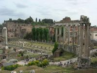 Forum Romanum mit Säulen des Saturn-Tempels