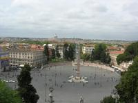 Blick vom Pincio auf die Piazza del Popolo