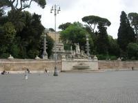 Valadier Terasse an der Piazza del Popolo