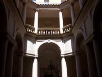 Die geniale Architektur von Boromini Kreuzgang von San Carolino alle Quatro Fontane