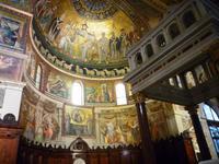 23.10., Apsis der Kirche Santa Maria in Trastevere