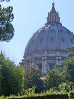 Vatikanische Gärten (Blick auf die Peterskirche)
