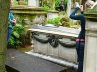 23.05.2014 Rom, Nichtkatholischer Friedhof, Grab G. Semper