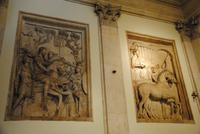 Relief im Aufgang zu den Kapitolinischen Museen - hier Darstellung des Milden Kaisers und der Kaiser der von großen Schlacht als Sieger zurückkommt