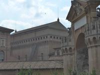 Blick auf die Sixtinische Kapelle von den Vatikanischen Gärten aus