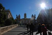 Kapitolshügel - Reitertreppe von Michelangelo entworfen