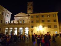 Lichter-Spaziergang (Kirche Santa Maria in Trastevere)