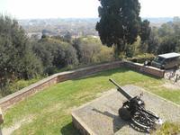 auf dem Gianicolo-Hügel ... (Vorbereitung zum 12-Uhr-Kanonenschuss)