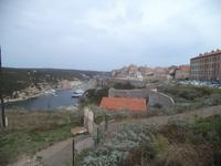 Bonifacio Altstadt von der Zitadelle aus
