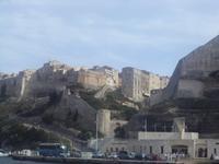 Bonifacio Altstadt vom Hafen aus