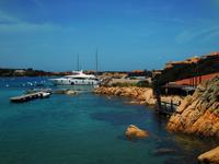 031 Sardinien - wunderschönes Hafenrestaurant an der Costa Smeralda