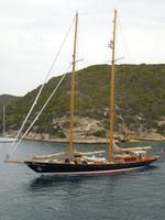 047 Sardinien - Segelschiff in Bonifacio