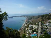 15.09.2013 Taormina, Blick vom Stadtpark