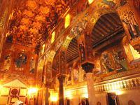 Auch in der Capella Palatina war viel Gold zu sehen