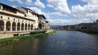 Florenz (Ausblick von der Ponte Vecchio)