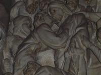 Detail des Marmorreliefs