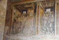 Fresken im Innenhof des Rathauses San Gimignano