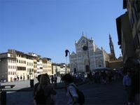 Florenz, Blick zur Kirche Santa Croce