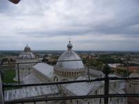 Pisa, Blick vom schiefen Turm auf den Platz der Wunder