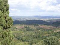 San Gimignano, Blick von der Stadtmauer