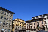 Florenz - Häuser am Piazza della Signoria