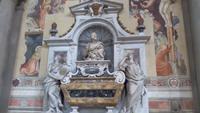 Florenz, Stadtführung mit Angela, Franziskanerkirche Santa Croce,Galileis Grab