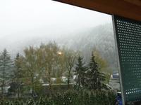 Über  Nacht hat es  in Sterzing nochmal geschneit.