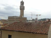 Blick über die Dächer von Florenz zum Rathaus
