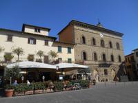 Chianti-Weinstrasse (Marktplatz in Greve)
