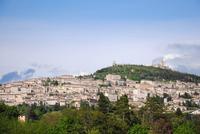 Assisi in der Abendsonne - auf der Rückfahrt von Spello