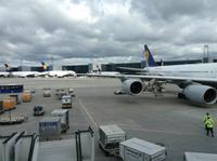 auf dem Frankfurter Flughafen