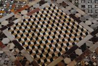 Plastisch wirkender Marmorfußboden in San Marco