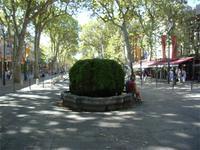 Aix, Brunnen auf Cour Mirabeau
