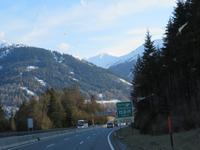 Fahrt über die Brennerautobahn