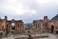 Teatro Greco in Taormina - Blick zum Ätna