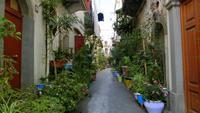 in den Straßen von Lipari Stadt